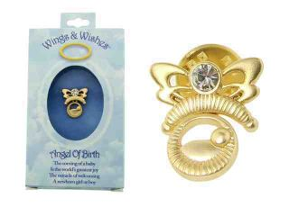Angel of Birth Newborn Angel Wings & Wishes Tac Pin Gift Boxed
