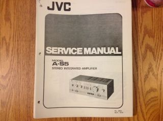 Service Manual for JVC Stereo Integrated Amplifier A S5