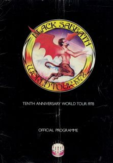 Black Sabbath 1978 Van Halen Tour Concert Program Book