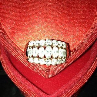 Exquisite Anniversary Diamond Yellow Gold Ring 2 Caret TW