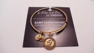 New Alex and Ani Saint Christopher Charm Bracelet Strength Protection