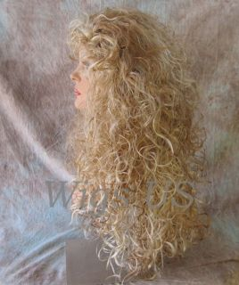 Wigs Straw Blond Frst Pale Blond Long Flowing Curls Wig