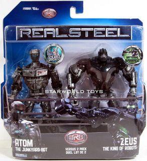 Real Steel DELUXE 2 PACKS! ATOM versus ZEUS NIP 2 figures! WRB robot