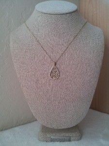 Designer Anna Beck Gold Plated Sterling Silver Small Teardrop Pendant