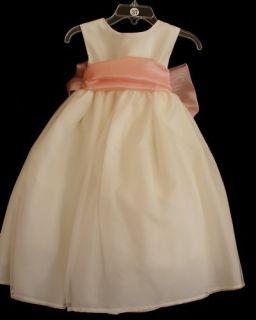 US Angels Flower Girl Dress Style 409 Ivory Size 12