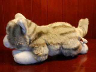 This is a Animal Alley plush grey and white kitty cat This item is in