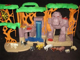 Fisher Price Imaginext Gorilla Mountain Animals Figures Huge Xmas Toy