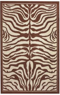 New Zebra Print Area Rug 5x8 Brown Modern Animal Skin