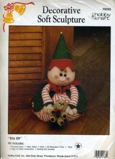 Eric Elf w Teddy Bear Decorative Soft Sculpture KIT Unopened