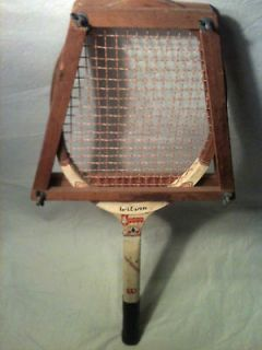Vintage Wilson Sport Tennis Racket with Antique Press