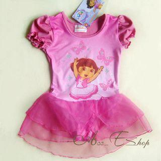 Girls Ballet Dance Leotard Costume Dress Fairy Tutu Skirt 3 7Y