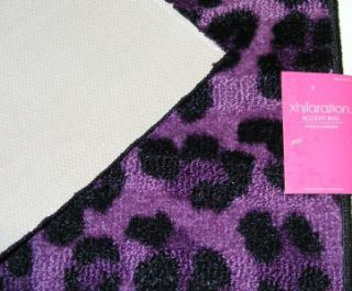 Xhilaration Purple Black Leopard Rug Animal Print 27x45 2x4 Nonslip