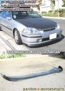 96 98 civic 4dr sir front bumper lip urethane one