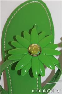 Miss Trish Capri Target Vegan Green Flower Flat Sandals