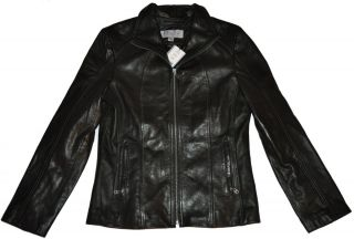 New Andrew MARC NEW YORK Womens LEATHER Jacket BLACK New Size Medium M