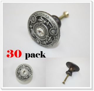 Antique Pewter Furniture Dresser Cabinet Drawer Knob Door Pulls