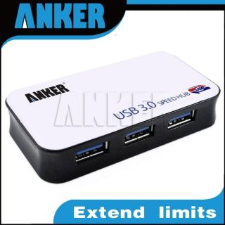 Anker 4 Port USB 3 0 Auto Sharing Switch Hub High Speed 5Gbps