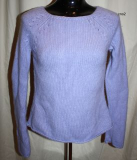 ANN TAYLOR 100% 2 PLY CASHMERE THICK BALLERINA BOAT NECK SWEATER