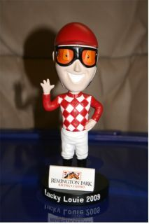 2009 Lucky Louie BOBBLEHEAD 2009 Horse Racing Jockey FIGURINE