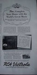 1939 rca victor victrola u134a radio phonograph ad time left