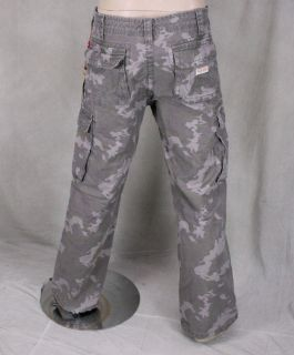 True Religion Jeans Mens Anthony Cargo Pants Dirty Moss Camo