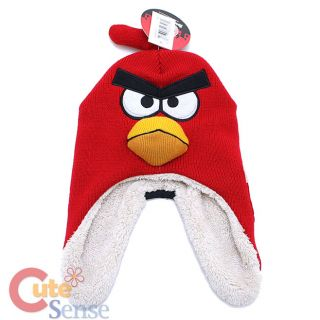 Angry Birds Red Bird 3D Stuffed Knitted Lapland Hat Beanie (Kids to