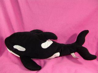 Big Animal Alley Plush Killer Whale Shamu Stuffed Orca