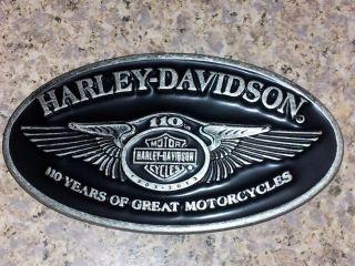 110th Anniversary Harley Davidson Belt Buckle