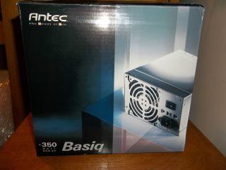 ANTEC BASIQ 350 WATT ATX12V VERSION 2 01 POWER SUPPLY MODEL BP350 NEW