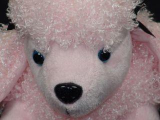 New Noahs Ark Animal Workshop Pink Poodle Blue Eyed Plush Puppy Dog