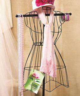 vintage wire dress form mannequin boutique clothing decor time left