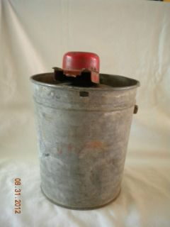 Antique Ice Cream Maker possibly Jack Frost Freeze Galvanized