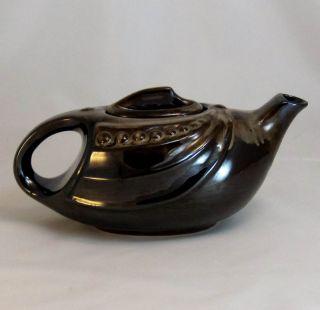 Antique Art Deco Embossed Streamlined Japanese Teapot