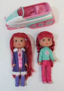 Strawberry Shortcake Snowmobile Snow Playmates Dolls Accessories