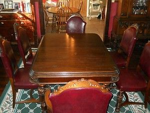Rockford Furniture Company 1920s Antique Dining Room Furniture Set