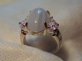 newly listed new avon blue lace agate sterling silver ring