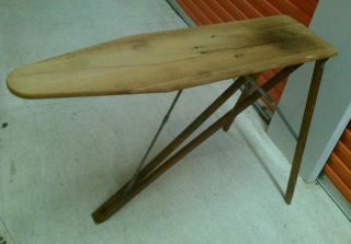 Antique Ironing Board Table Beautiful Folding Wood