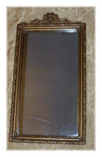 antique vintage wood gesso wall mirror gold