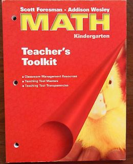 Math Kindergarten Teachers Toolkit by Addison Wesley School