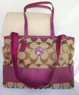 NWT COACH SIGNATURE MULTI FUNCTIONAL TOTE LAPTOP BABY BAG X LARGE