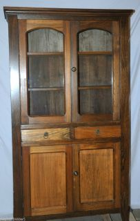 Antique Pie Safe Cabinet with Original Hand Blown Glass and Vent Holes