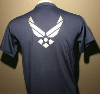 us air force t shirt navy blue large wing only