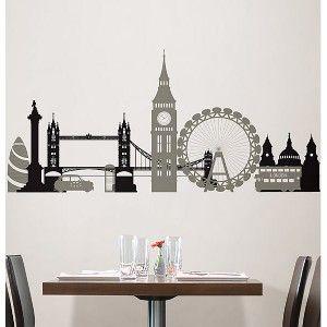 London Bridge Big Wall Mural Decals City Skyline Stickers Vinyl Room