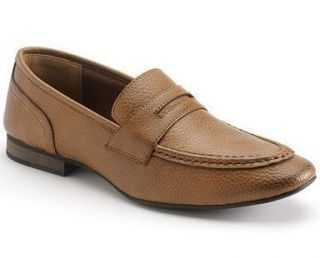 NWOB MARC ANTHONY MENS JAZZ BROWN TUMBLED LEATHER LOAFERS 9 M