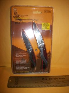 New Appalachian Trail Knife Set Gift Blade Hand Tool Pair Hardwood