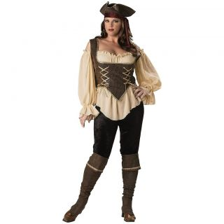 Rustic Pirate Lady Adult Women Sexy Wench Deluxe Halloween Costume Std