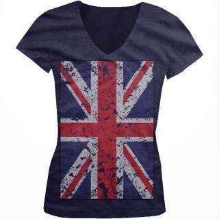 The Union Jack Oversize Flag Britain England Juniors Girls V Neck