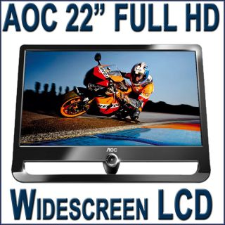 AOC F22S 22 inch Full HD Widescreen LCD Monitor Black