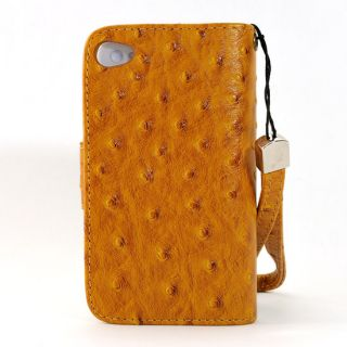 Leather Case Cover Flip Clutch Diary Wallet for Apple iPhone 4/4S