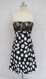 bl162up black white lace padded strapless dress xxl